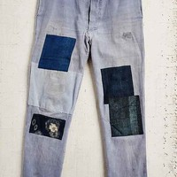 Vintage Indigo Patched Jean- Assorted One