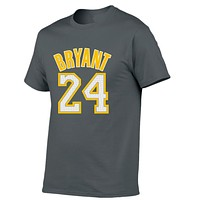 KOBE BRYANT - 100% Cotton 24 BRYANT T-shirt for Fans