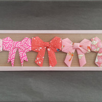 Assortment of nodes origami to stick - Pink / Pink origami bow set