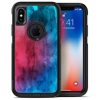 Vivid Pink 869 Absorbed Watercolor Texture - iPhone X OtterBox Case & Skin Kits