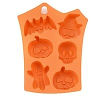 Halloween Silicone 6 Pumpkins Cake Chocolate Fondant Candy Mold Mould Baking Mold