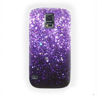 Ombre Fade Pattern Glitter Not Real Glitter  For Samsung Galaxy S5 Case