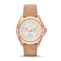 Cecile Multifunction Leather Watch | Fossil