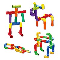 2017 Colorful Educational Water Pipe Building Blocks Toys For Children DIY Assembling Pipeline Tunnel Block Model Toy For Kids