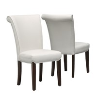 """Dining Chair - 2Pcs / 39""""H / Taupe Leather-Look"""
