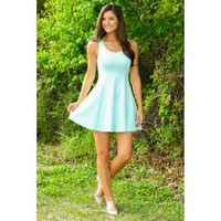 EVERLY:Modern Day Classic Dress-Mint