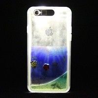 """LifeBox Glow Apple iPhone 6/6s Case 4.7"""" Dual Layer Hybrid Bumper Double Protection with Liquid Infused Glow in the Dark Fluoroscent Sand - Retail Package - Blue - Caribbean"""