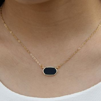 Cute Oval Pendant Necklace