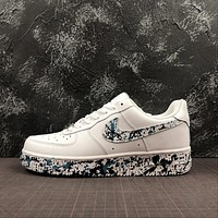 Nike Air Force 1 '07 AF1 Low White Black Sport Shoes