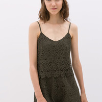 GUIPURE STRAPPY JUMPSUIT