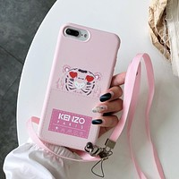KENZO Tide brand personality all-inclusive 7plus anti-fall couple soft shell protector Pink