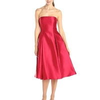 Adrianna Papell Women's Strapless Mid-Length Party Dress