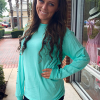 """Simply Southern """"The Classic"""" Long Sleeve - Sky"""