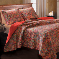 Persian Botanical Quilt Bedding Twin/Full/Queen/King Quilt Bed Set Size 3 Piece Set - Free Shipping