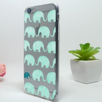 Cute Green Elephant Mobile Phone Case For Iphone 5c 5 5s SE 6 6s 6plus 6s plus + Free Shipping+ Free Gift Box