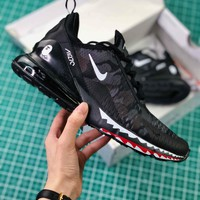 A Bathing Ape X Nike Air Max 270 Bape Camo Black Ah6799-012 Sport Running Shoes - Best Online Sale