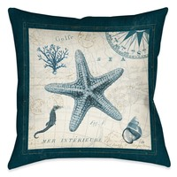 Ocean Life V Indoor Decorative Pillow