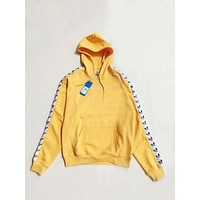 adidas Originals Tnt Tape Pullover Hoodie - Yellow F-1