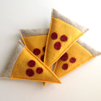 Pepperoni Pizza Slice Catnip Cat Toy