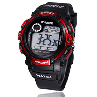 Super Boys Sport Watches LED Quartz Alarm Date Waterproof Digital Wristwatch for Cool Teenagers Promotional Gifts CF