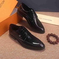 DCCK LV  Men Casual Shoes Boots fashionable casual leather