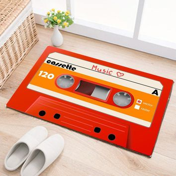 Autumn Fall welcome door mat doormat Digital Printing Music Tape Traditional  Non-Slip s Area Rugs and Carpets Floor Mats Room Kitchen Carpet Toilet AT_76_7