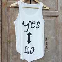 Yes or No Tank Top women Fitness top Summer Cloth Gift Summer fashion Vintage tank tops for woman Jack Daniels Wifey Bride kale Short Pants