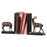 SPI Brass and Bronze Deer Bookends