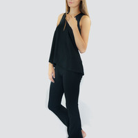 Black Bamboo Pajama Set