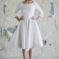 Audrey Tea Length Dress | A-line Wedding Dresses And 50s Style Wedding Dresses At ShopRuche.com