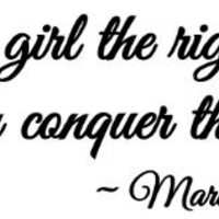 Give a girl the right shoes and she can conquer the world Marilyn Monroe wall art wall sayings