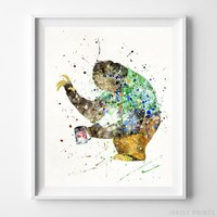 Sloth Zootopia Disney Print Baby Nursery Wall Art Home Decor UNFRAMED by Inkist Prints
