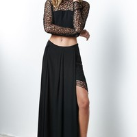 FOXIEDOX Let Me Lace You Maxi Skirt - Womens Skirt - Black