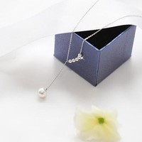Shiny Jewelry Gift Stylish New Arrival 925 Silver Accessory Lock Pearls Pendant Necklace [7587139399]