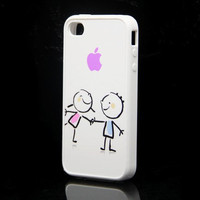 We love by Apple design Rubber Case for iPhone 4 and iPhone 4S