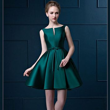 Sexy Short Cocktail Dresses Bridal Banquet Wine Red stain Backless Party Formal Dress Homecoming Dress Robe De Soiree