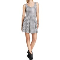 Aqua Womens Cut-Out Printed Sundress