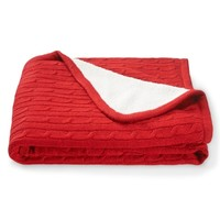 Cable-Knit Throw Blanket - Aeropostale