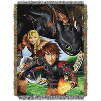 How to Train Your Dragon 2 Imagine Dragons  Triple Woven Jacquard Throw (48x60)