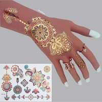 #C23 High Quality Mandala Flash Tattoos, The Best Selling Designs Metallic Body Tattoos.