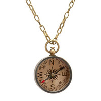 Voyager Compass Necklace