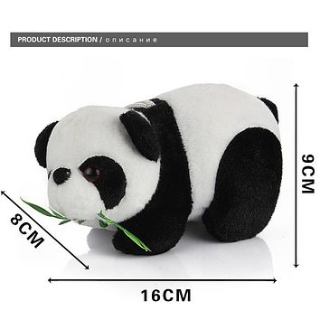 Cute Cartoon Panda With Bamboo Baby Plush Toys Infant Soft Stuffed Animal Key Chain Plush Doll Toys Kids Gift Toy