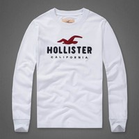 Hollister Women Men Fashion Casual Top Sweater-9