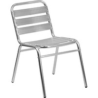 Armless Chair with Slat Back