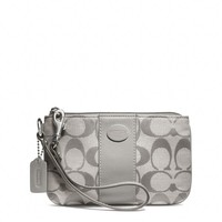 Coach :: Legacy Small Wristlet In Signature Fabric