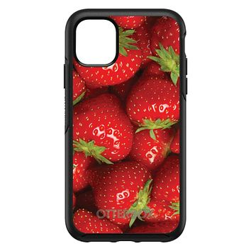 DistinctInk™ OtterBox Symmetry Series Case for Apple iPhone / Samsung Galaxy / Google Pixel - Bright Red Strawberries