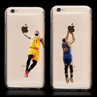 New Kobe Bryant Stephen Curry Basketball Stars Case for iPhone 6s Michael Jordan LeBron James Hard Plastic Cover for iPhone 6
