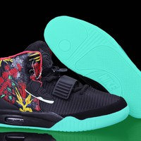 [Free Shipping ] Nike Air Yeezy 2 ¡°Givenchy¡± by Mache Customs Black Basketball Sneaker