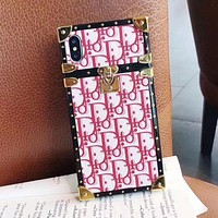 Dior Newest Popular Women Phone Cover Case For iphone 6 6s 6plus 6s-plus 7 7plus iPhone8 iPhone X XR XS XS MAX Pink