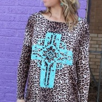 Long Leopard Tunic